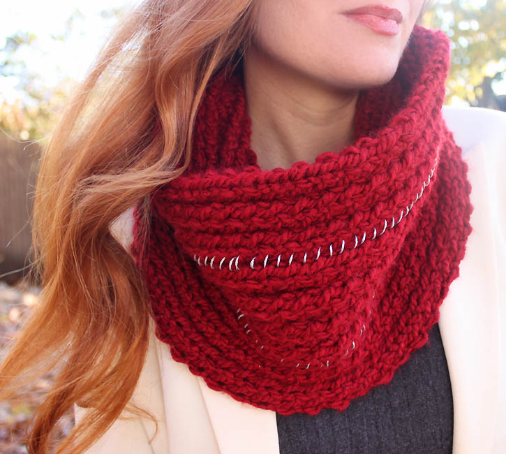 Pattern To Knit Infinity Scarf : Michael Kors Chain Infinity Scarf [knitting pattern] - Gina Michele