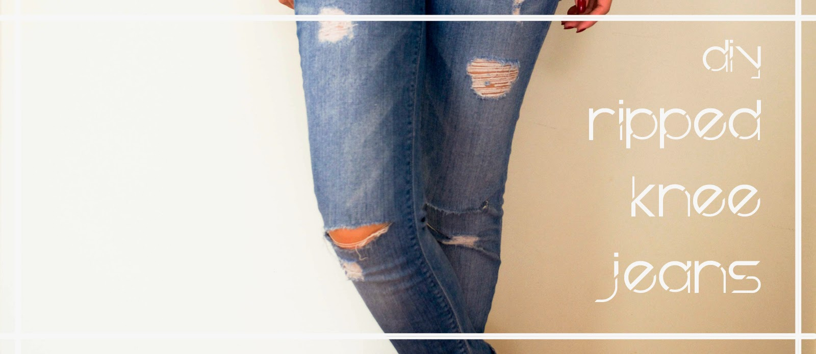 do it yourself craft distressed skinny leg rip hole easy simple quick