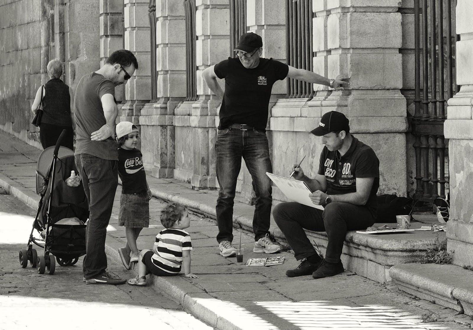 Pintando plein air en Toledo.