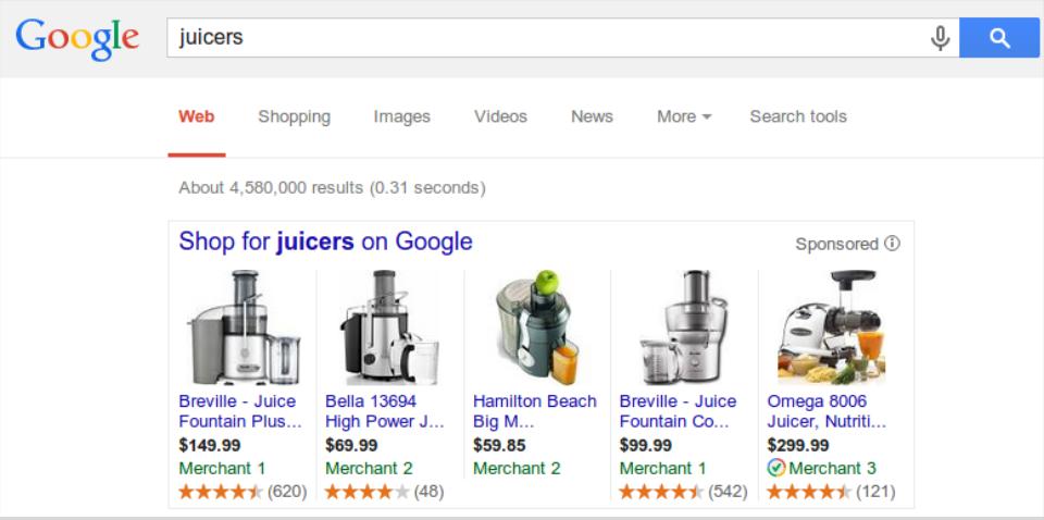 Google Shopping Produktbewertung