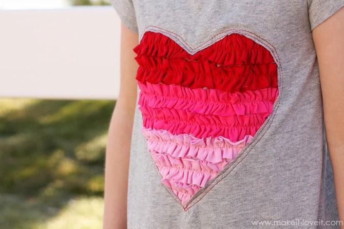 Tutorial aplique corazón para camiseta de niña