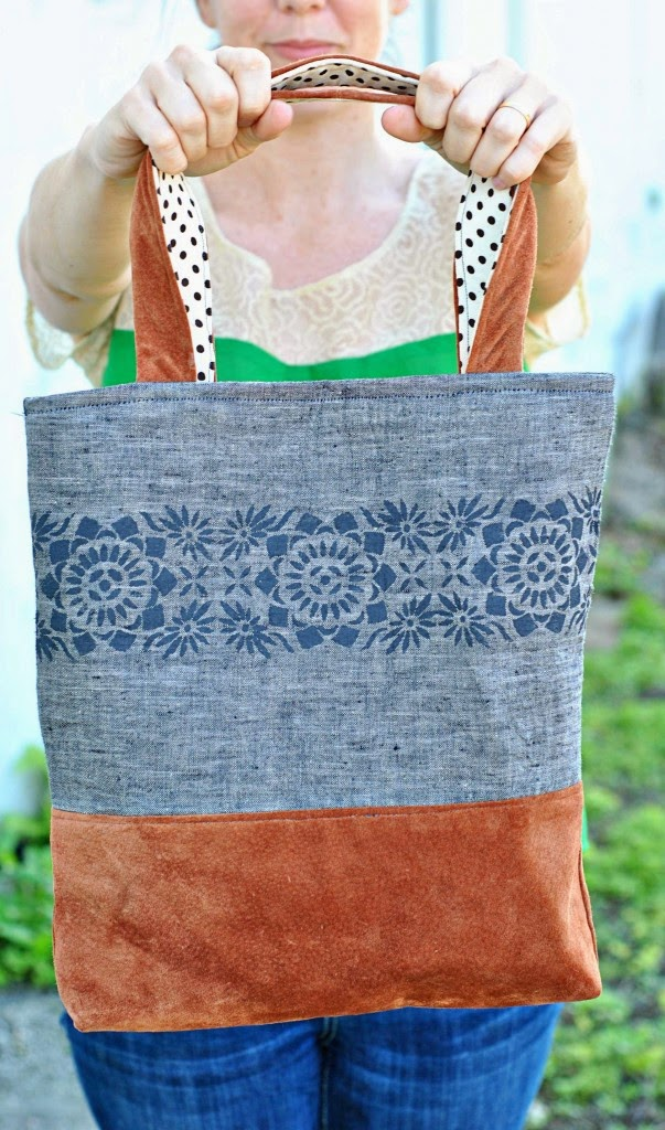 Linen and Leather Tote Pattern