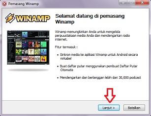 instal winamp