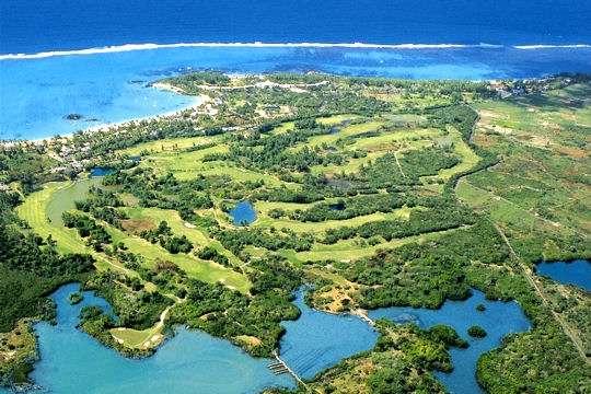 La belle vue de l'île Maurice