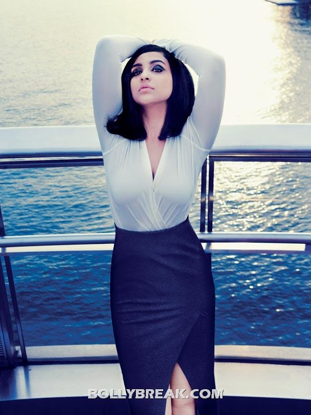 Parineeti Chopra Beach Pic in HD from Harper Bazaar - (4) - Parineeti Chopra Harper's Bazaar Magazine Scans - India July 2012