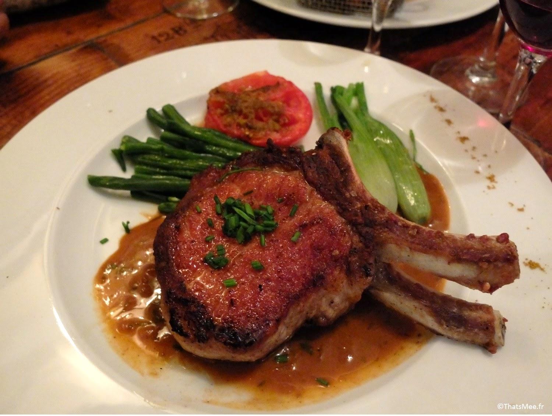Resto bistro troquet Le Coude Fou Paris Marais, plat agneau et légumes, cuisine traditionnelle française Coude Fou