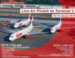 Info Perubahan Terminal Keberangkatan dan Kedatangan BATIK-LION di Soetta