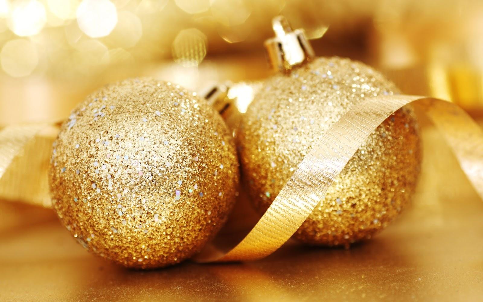 Wallpapernarium adornos de navidad - Bolas de navidad doradas ...