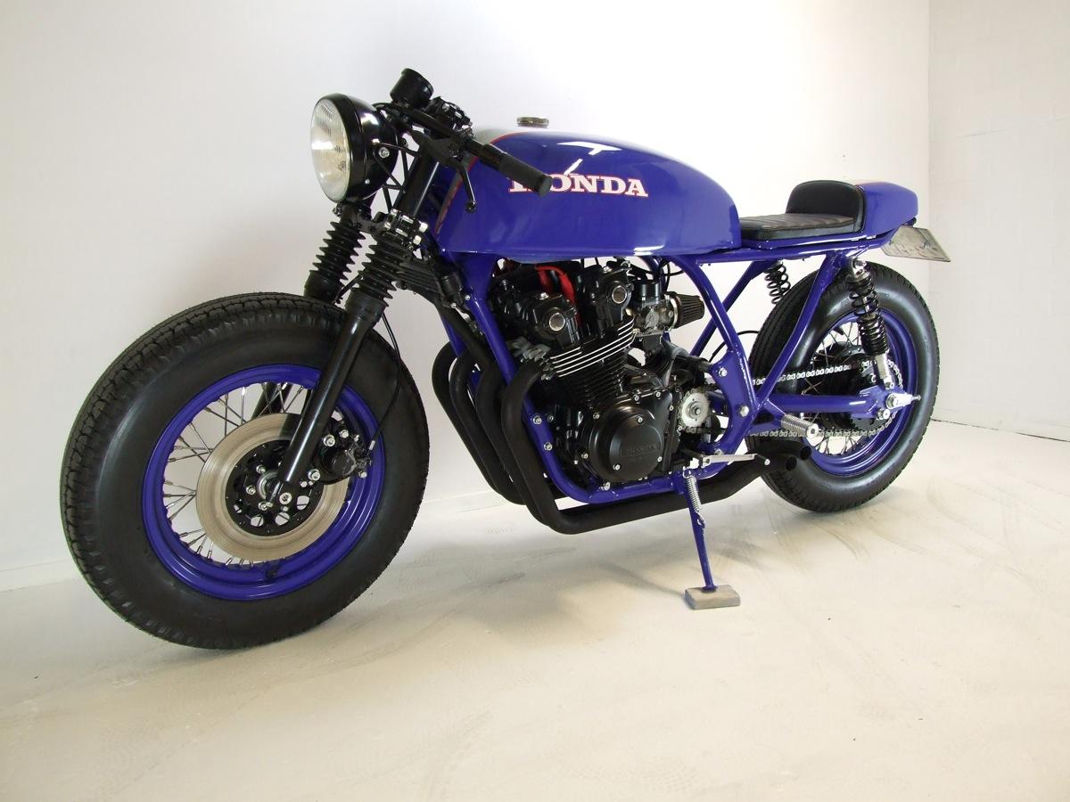 BUBBLE VISOR Honda CB750F 1982 Cafe Racer Big Blue