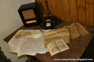 Wnętrze bunkra Regelbau 120A - Stanowisko dowódcy bunkru