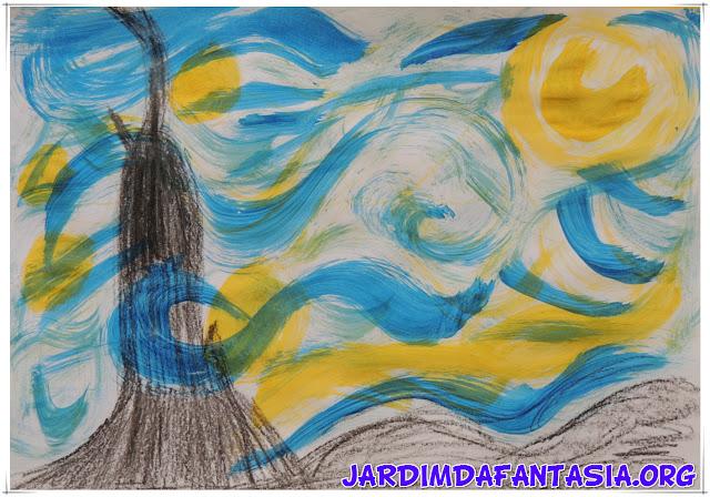 Aula Artes Releitura Obra Noite Estrelada Van Gogh