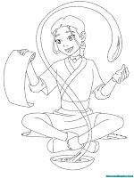 Mewarnai Gambar Katara Berlatih Jurus Pengendalian Air Dari Kitab Kuno