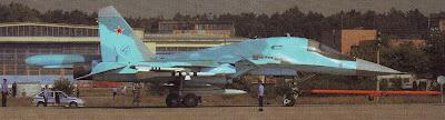 Бомбардировщик Су 34, авиасалон МАКС, 2005 год.