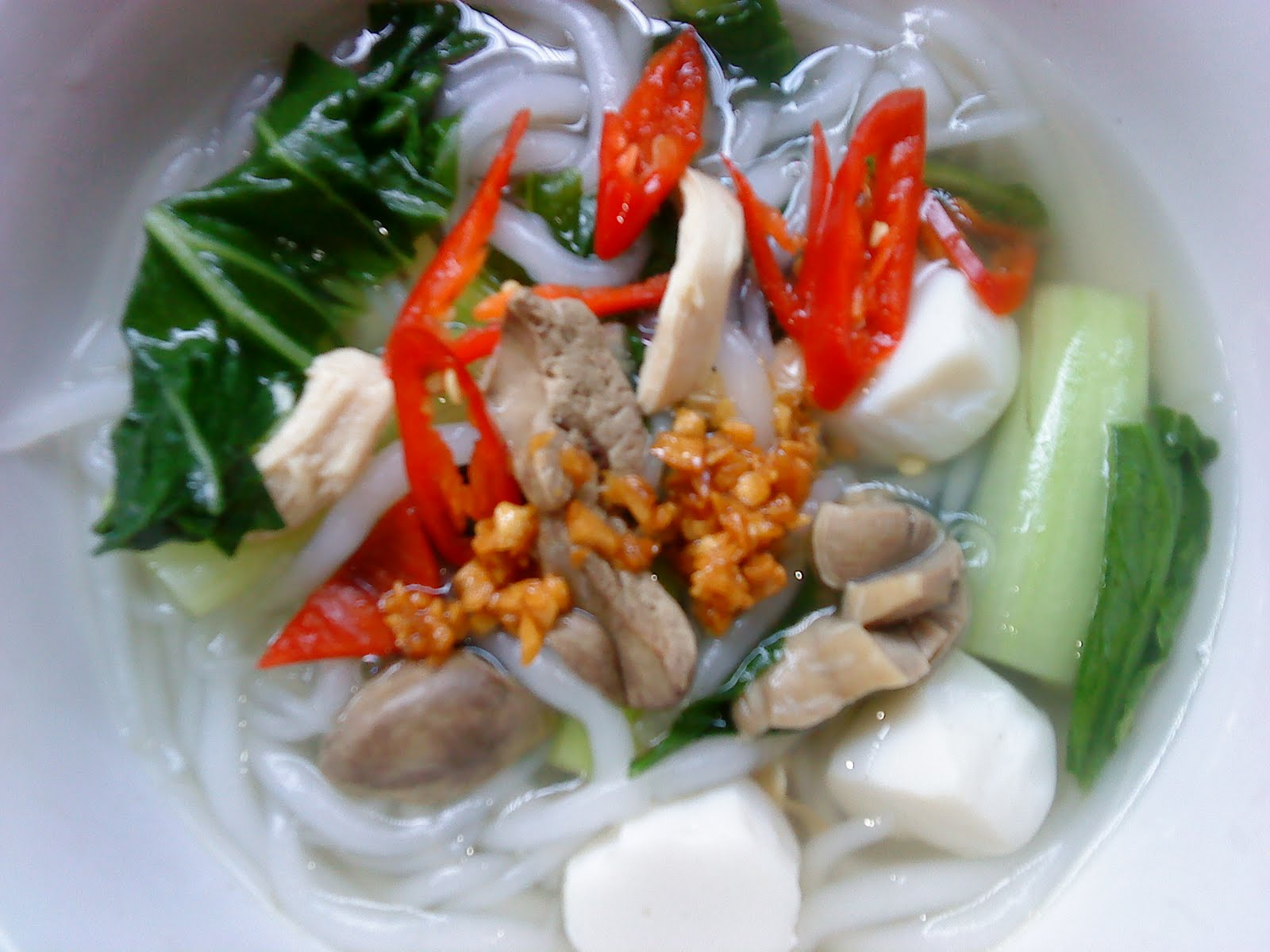 Cooking Pleasure: Rice Noodle Soup [Bee Thai Bak Soup]