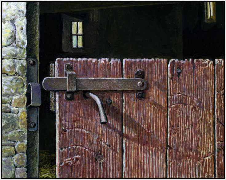Pennsylvania Barn Door by Paul Wolber & Daily Painters of Michigan: Pennsylvania Barn Door by Paul Wolber