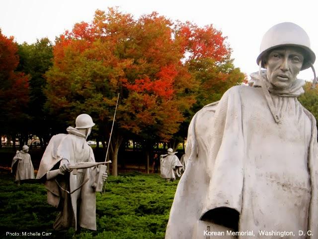 Korean War Memorial. Washington, D.C.  Photo: Copyright Michelle Carr 2013 / Travel Boldly.com