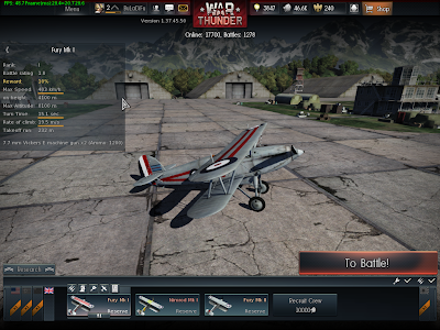 War Thunder - Fury Mk I Maxed Out