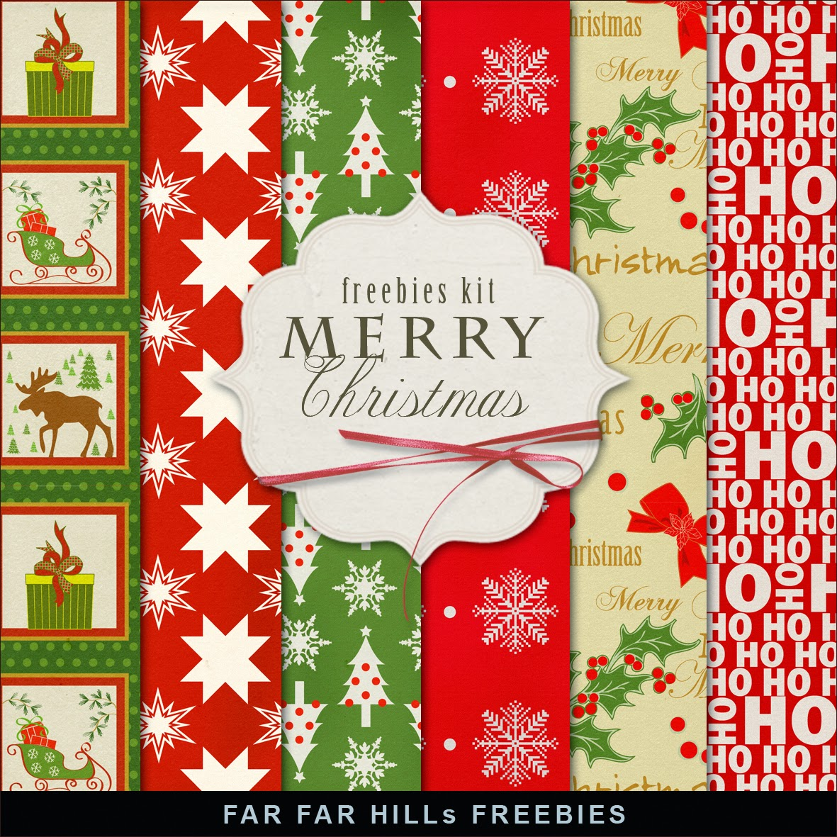New Freebies Kit of Winter Backgrounds - Merry Christmas:Far Far ...