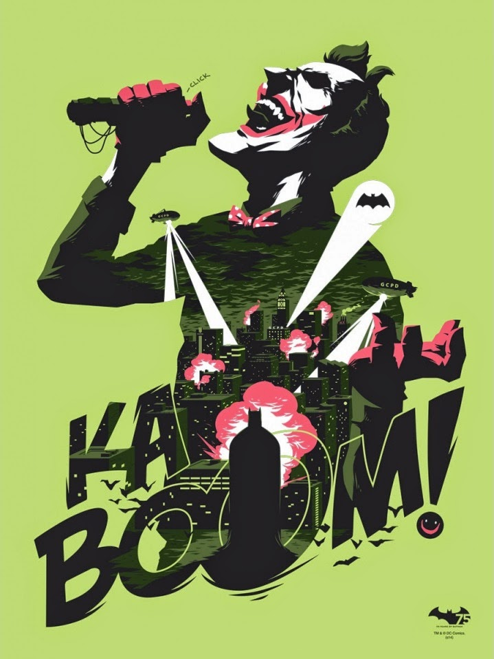 "Batman 75th Anniversary Screen Print Series - ""KABOOM!"" by Florey"