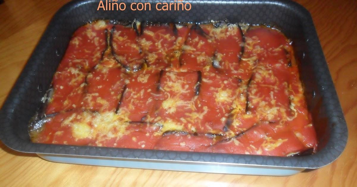 Berenjenas con mozzarella y tomate ali o con cari o - Berenjenas con mozzarella ...
