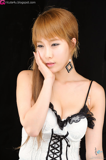 1 Im Min Young - White Basque-very cute asian girl-girlcute4u.blogspot.com