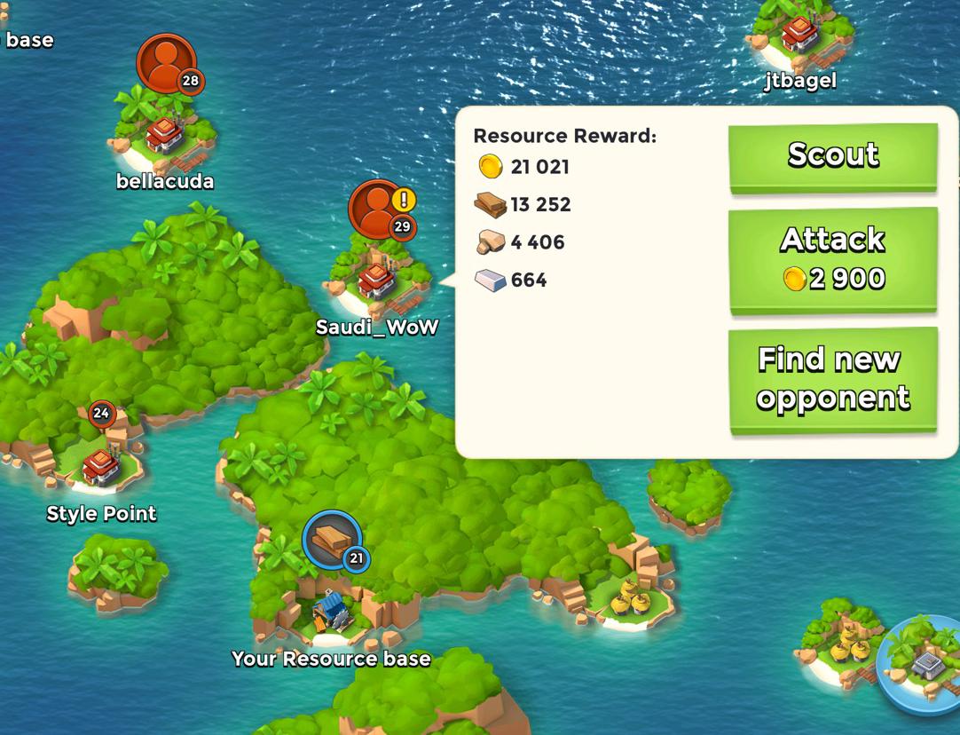 boom beach matchmaking reset