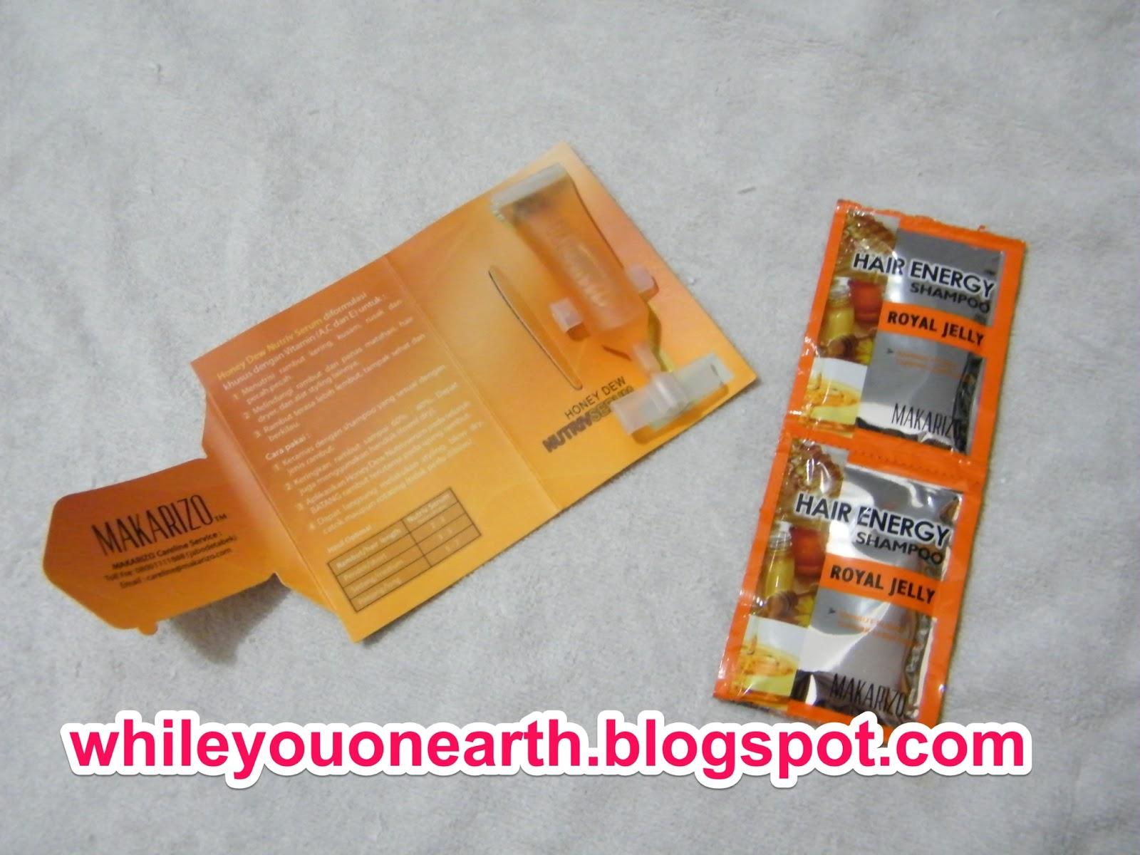 While You On Earth Makarizo Hair Recovery Repair Anti Advisor 8 Ml 3 Pcs Honey Dew Solusi Tepat Untuk Rambut Sehat