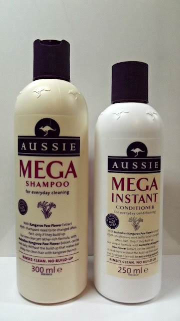 Aussie Mega shampoo and conditioner