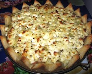Пирог Корона со свининой и картофелем