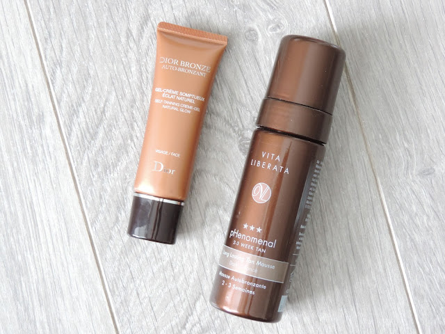 From Left: Dior Bronze Face Tan, Vita Liberata Phenomenal Dark Mousse Tan