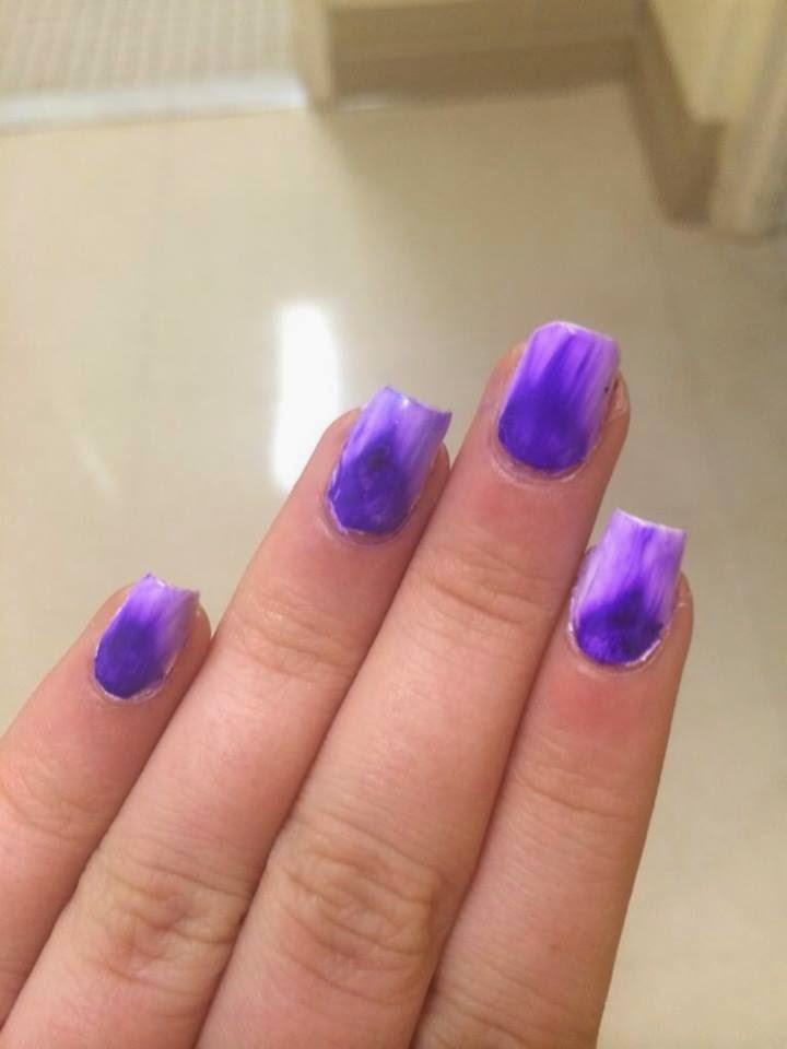 By My Fingertips: Nail Art Experimenting.. Water Color Nail Art With ...