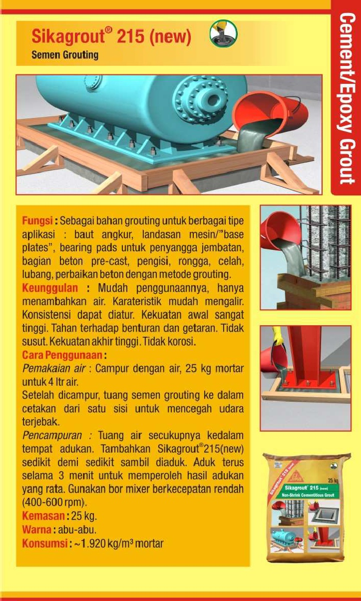 Cement / Epoxy Grout : SIKA