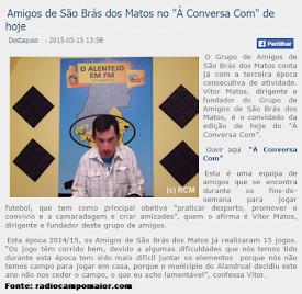 GRANDE ENTREVISTA SOBRE A ÉPOCA DESPORTIVA 14/ 15 NA RÁDIO ELVAS E RÁDIO CAMPO MAIOR