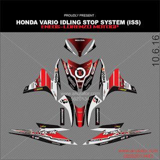 Stiker striping motor Honda Vario ISS Lorenzo