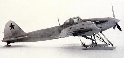 Ил-2 в белом зимнем камуфляже
