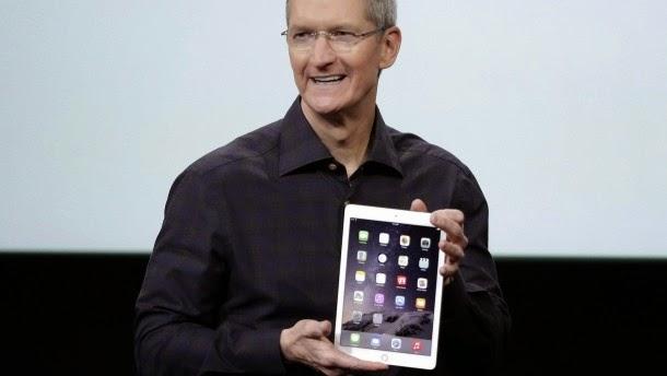 παρουσίαση από τον Tim Cook του iPad Air 2