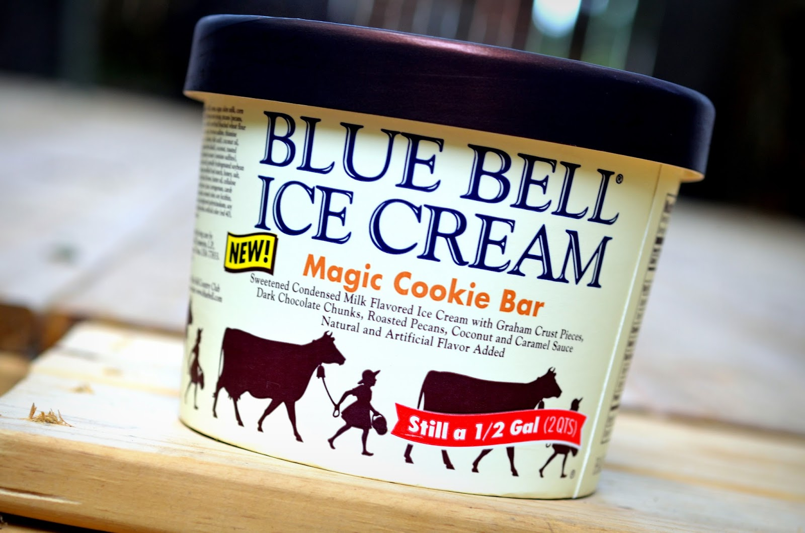 food and ice cream recipes REVIEW Blue Bell Magic Cookie Bar