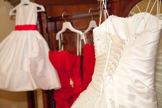Wedding dress in Guisborough Hall bridal suite