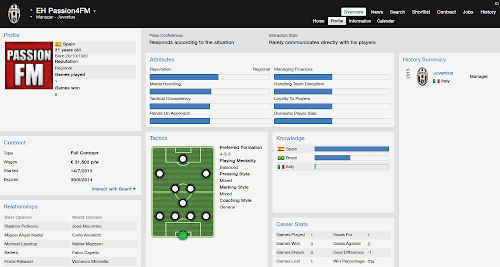 FM14 Manager Profile
