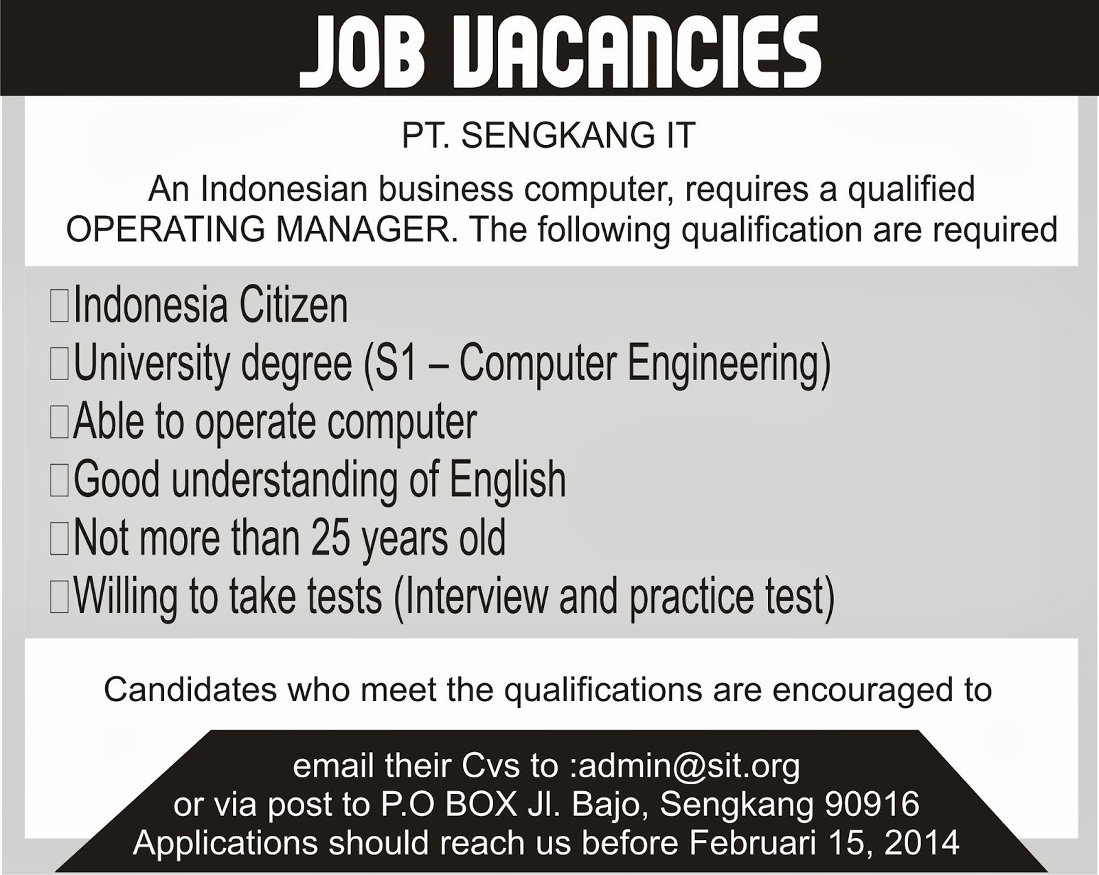 contoh application letter for any position