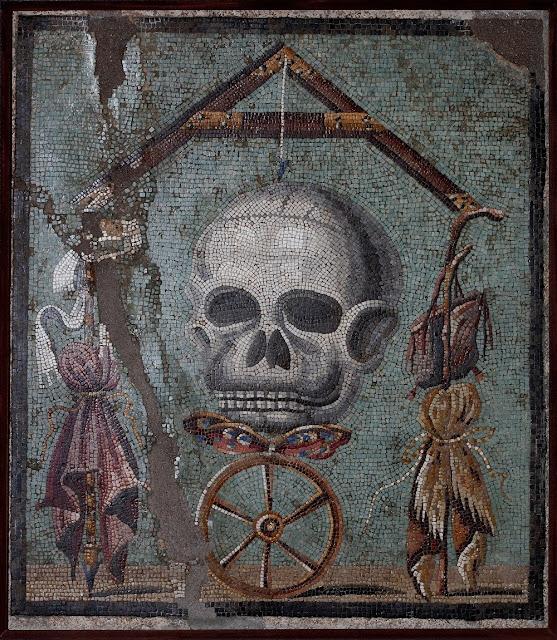 Mememnto mori mosaik fra Pompeji