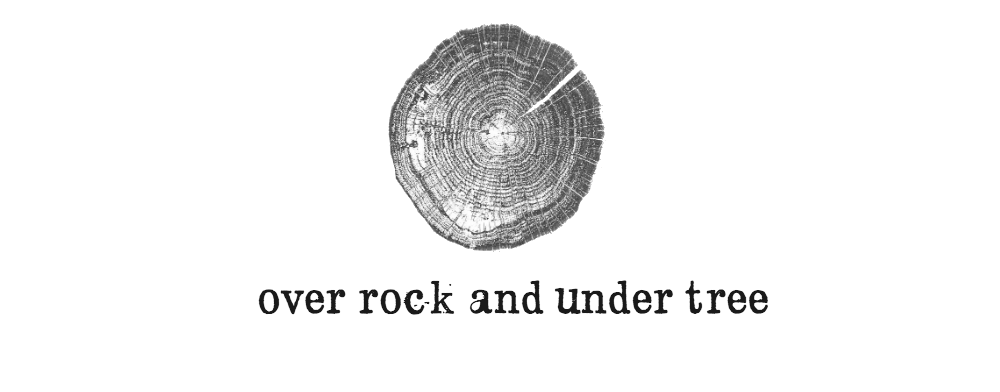 over rock and under tree