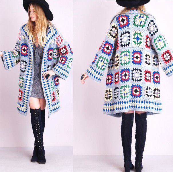 Crochet Jacket Tutorial : Crochet Patterns to Try: Granny Square Fall Coat Photo Tutorial