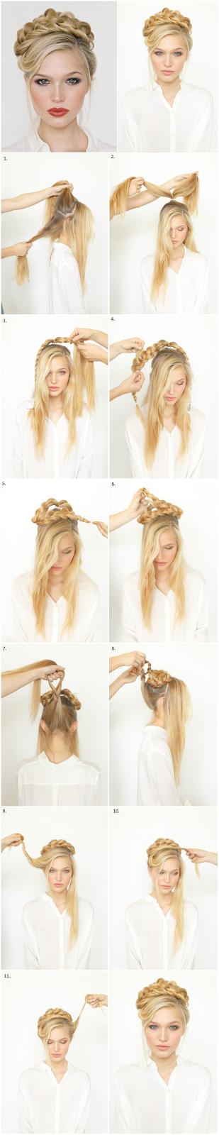 Как сделать из волос карону