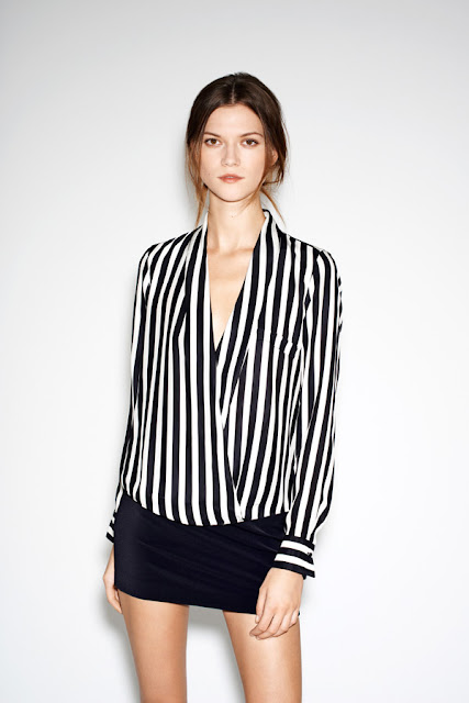 Black&white straight shirt