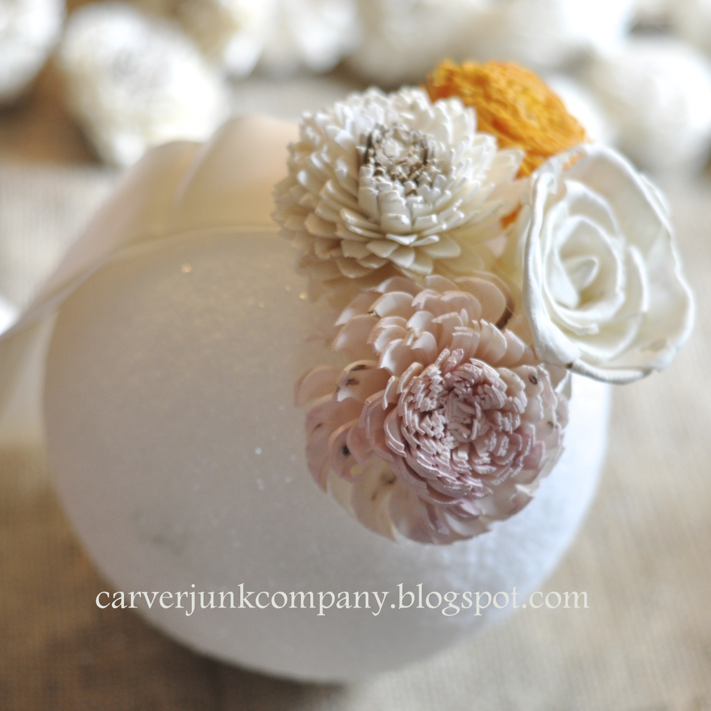 DIY Wedding Decor: Sola Wood Flower Pomander Balls