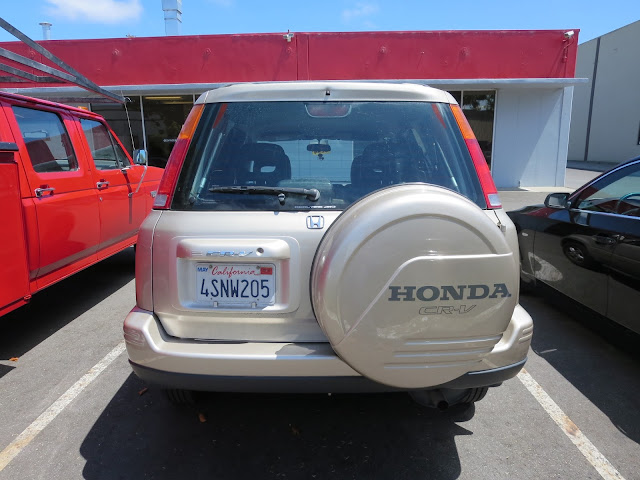 Honda CR-V with new bumper and body repairs from Almost Everything Auto Body