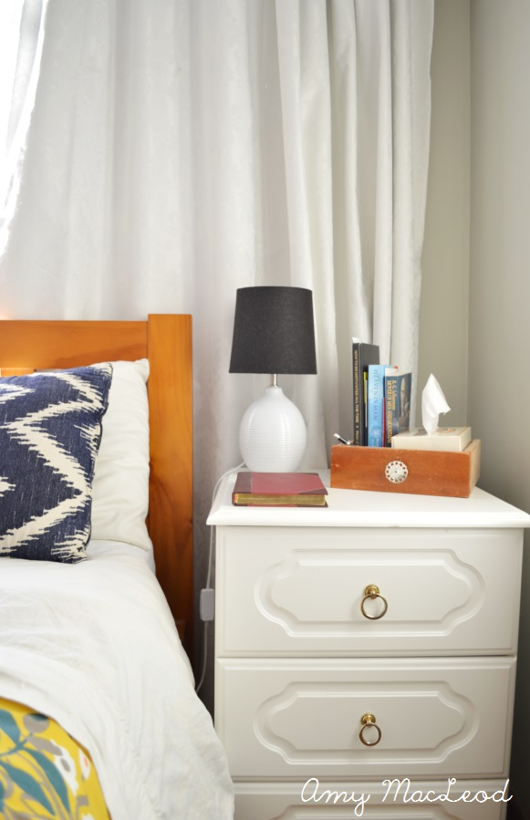 Bedside Table storage and organization solution - Amy MacLeod