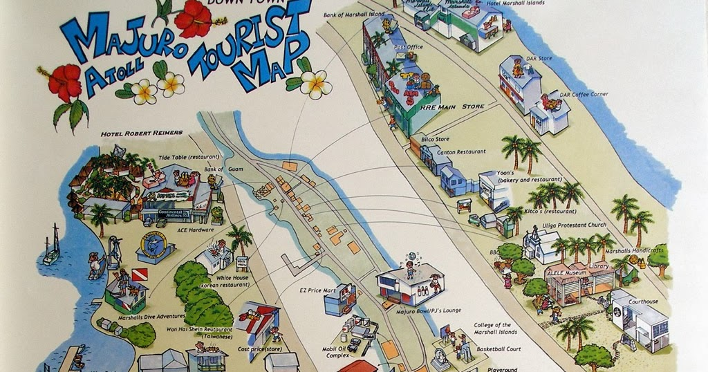 Raquel Ritz Travel Majuro map Marshall Islands