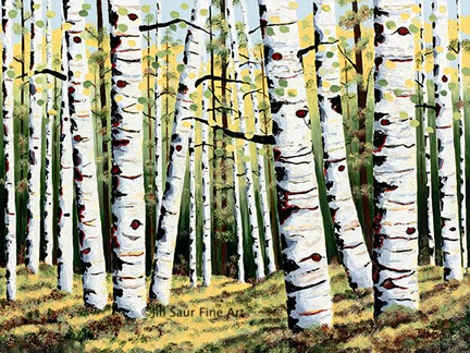 buy aspen tree painting